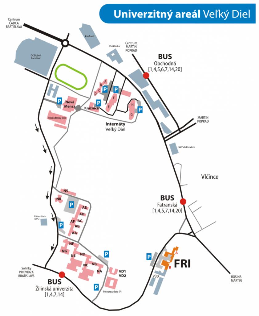 mapa-arealu-univerzita-zilina